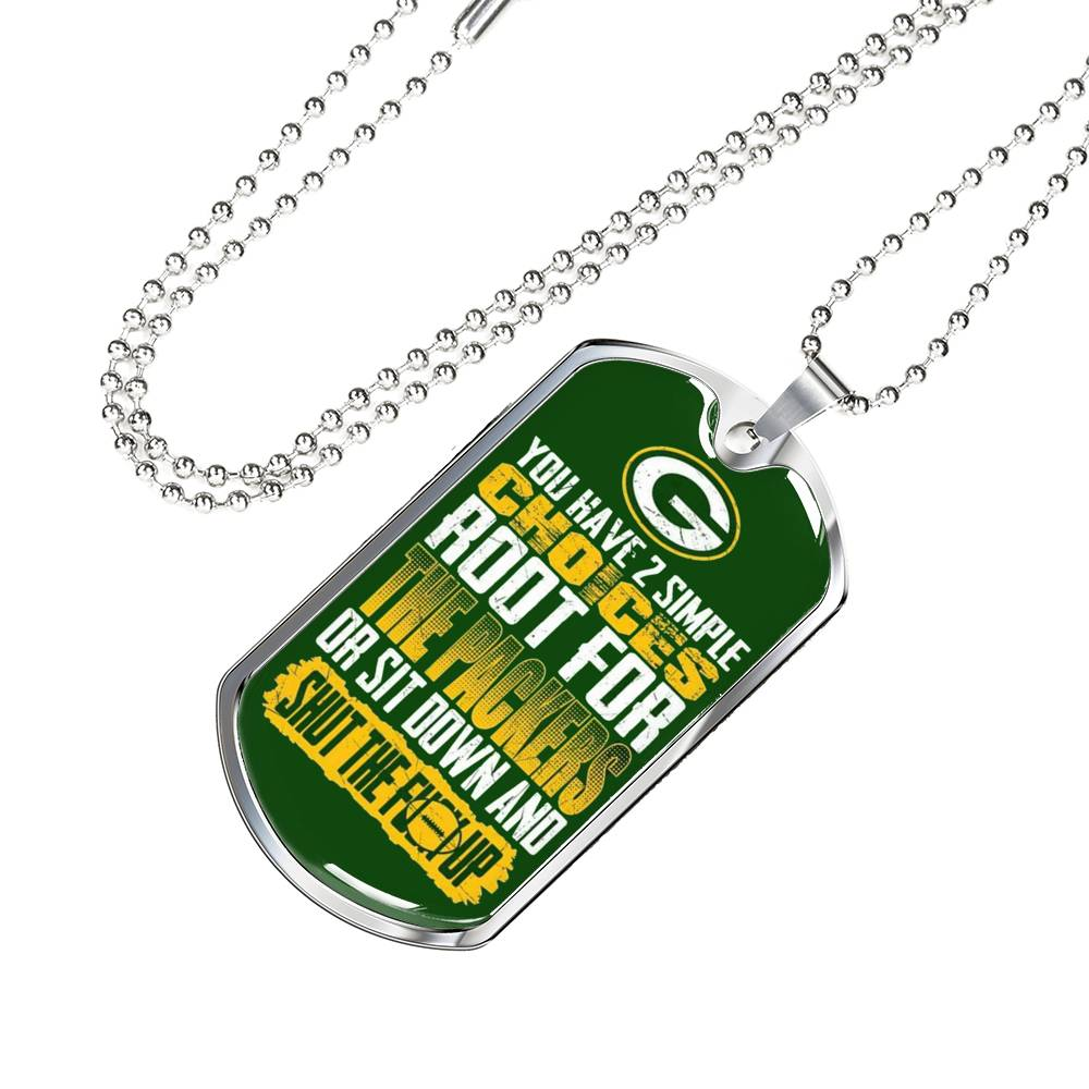 "Packers Green Bay Necklace Dog Tag ""Choices"""
