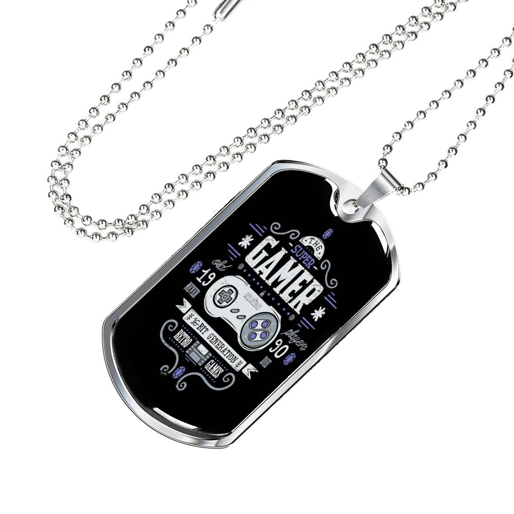 Gamer Necklace 16b Genaration Dog Tag