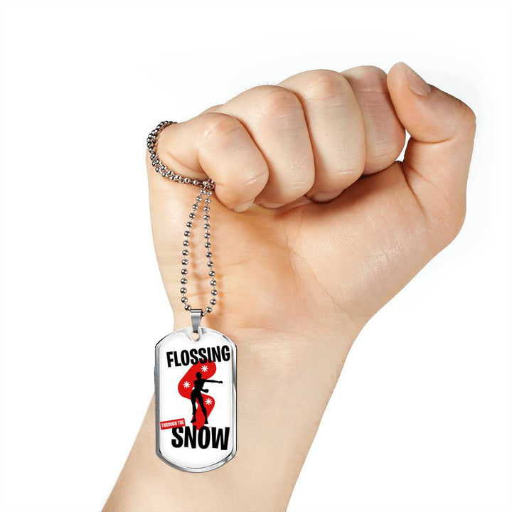 Fortnite Necklace Flossing Dog Tag