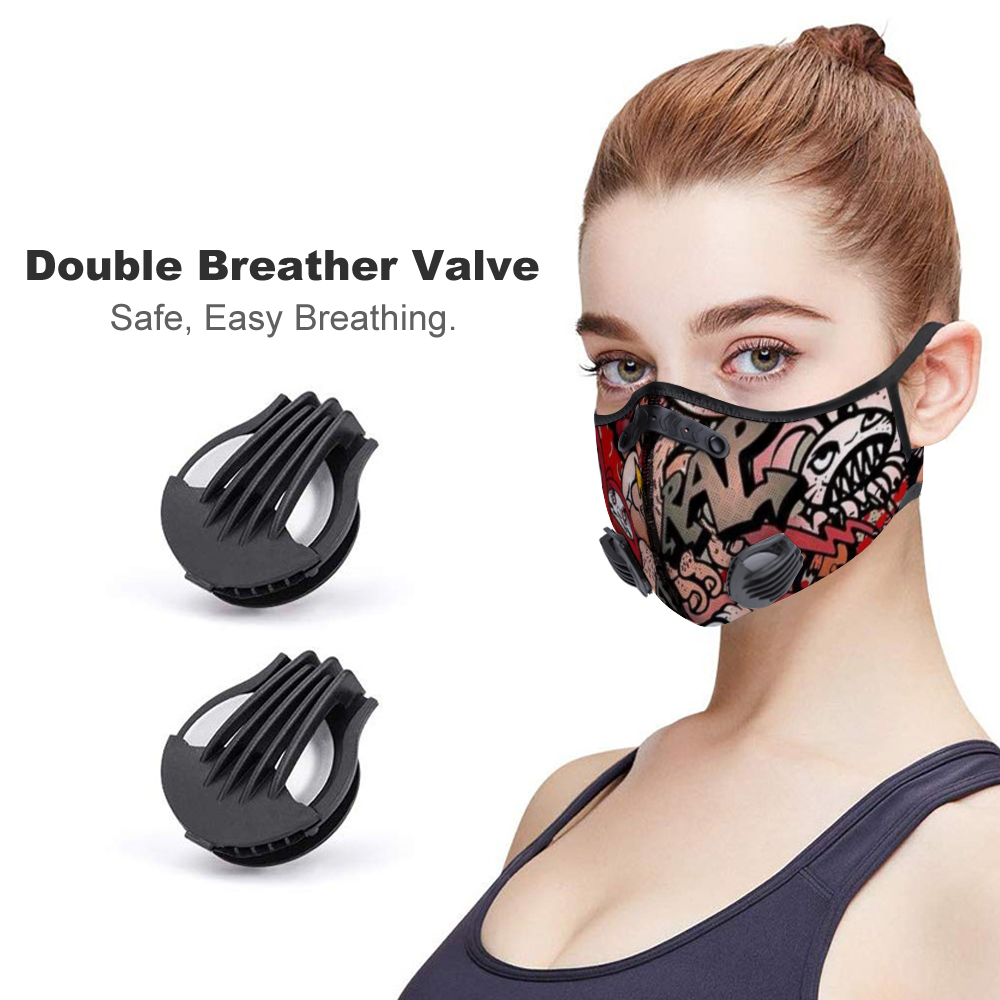 Doodle Face Mouth Mask Outdoor Protective Mask