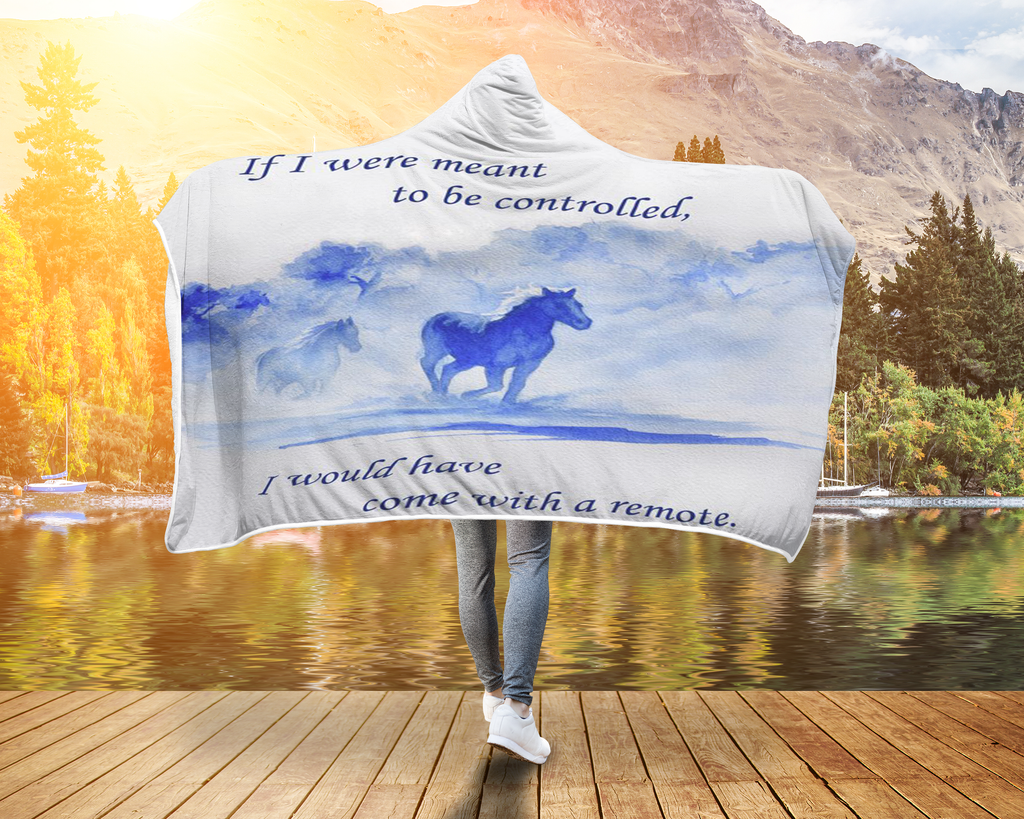 Horse Quote Blanket Controlled