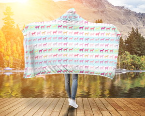 Colorful Horse Hooded Blanket