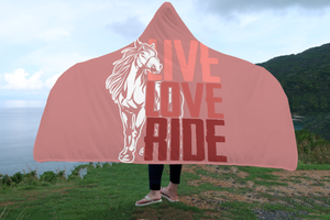 Horse Blanket Hooded Live Love Ride