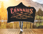 Weed Blanket Hooded Cannabis