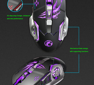 Backlight Pro Gamer Keyboard + 6 Buttons Gaming Mouse