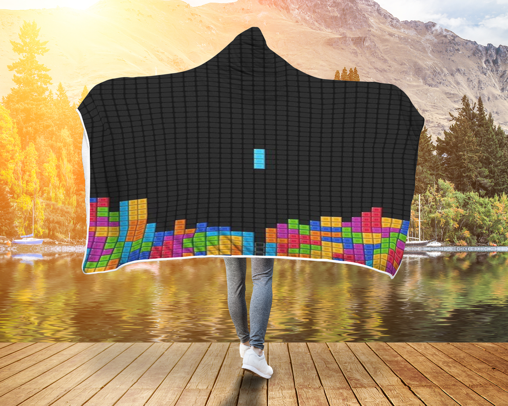 Tetris Blanket Hooded