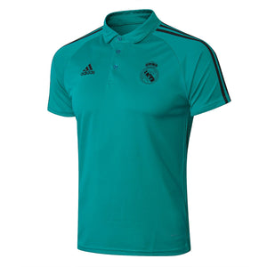 18-19 REAL MADRID Crest Polo training -Green
