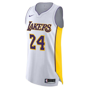 2018-2019 Men's Los Angeles Lakers Kobe Bryant Nike White Authentic Jersey - Association Edition