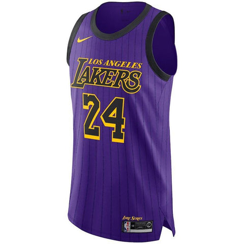 2018-2019 Men's Los Angeles Lakers Kobe Bryant #24 Nike Purple 2018/19 VaporKnit Authentic Jersey – City Edition
