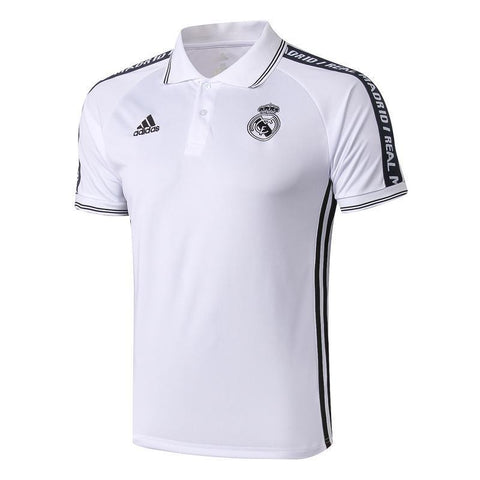 19-20 REAL MADRID Crest Polo training - White/Black