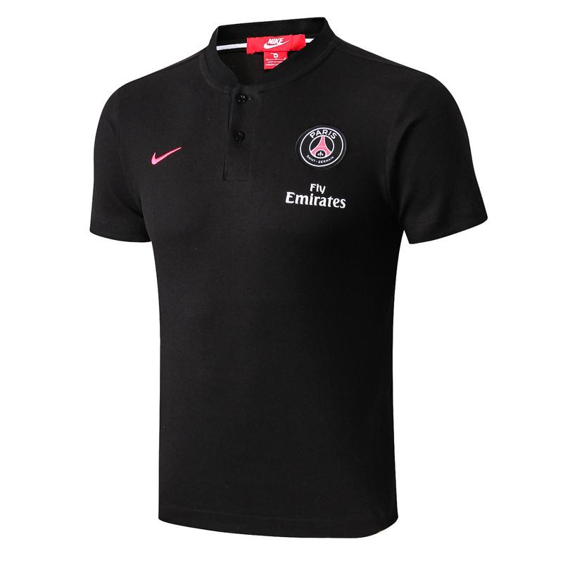 Paris Saint-Germain 18-19 Crest Polo Training - Black