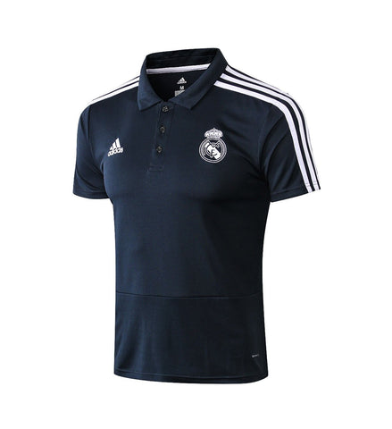 Image of 18-19 REAL MADRID Crest Polo training - Dark Blue