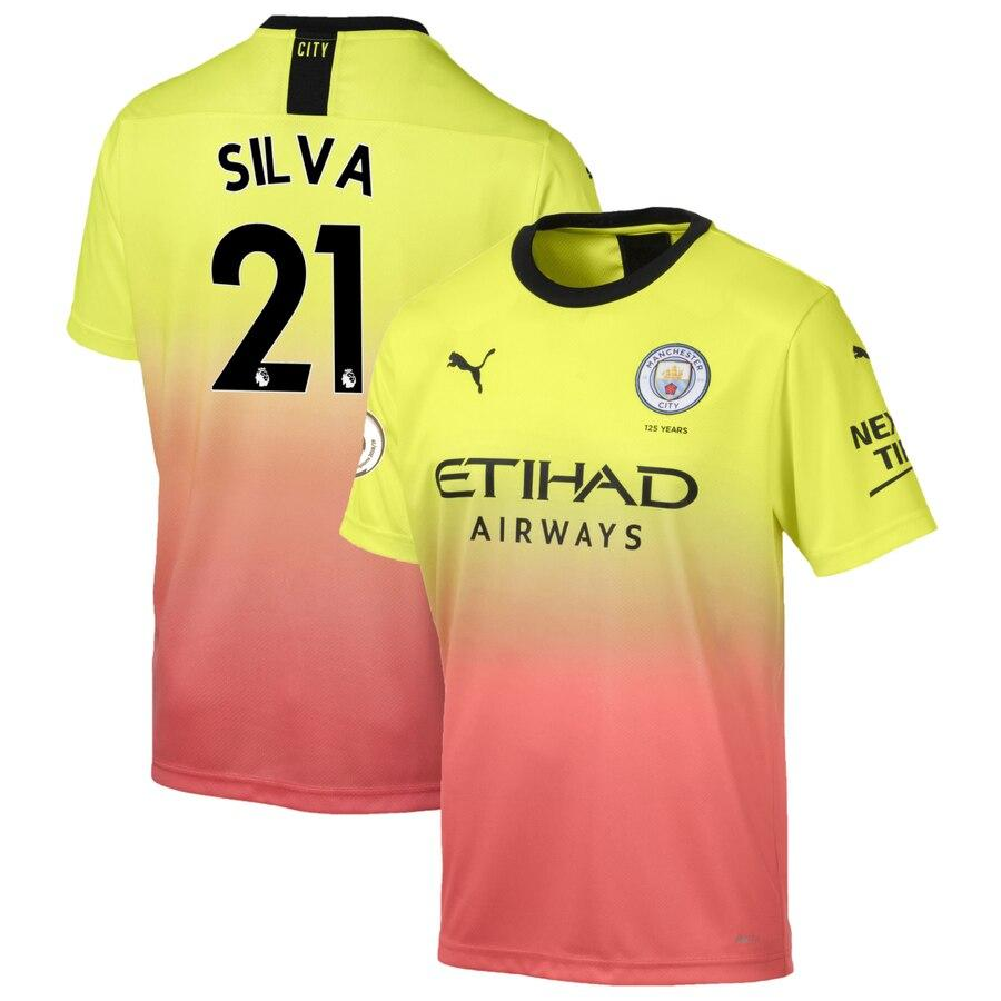 Manchester City Puma 2019/20 David Silva Jersey – Yellow