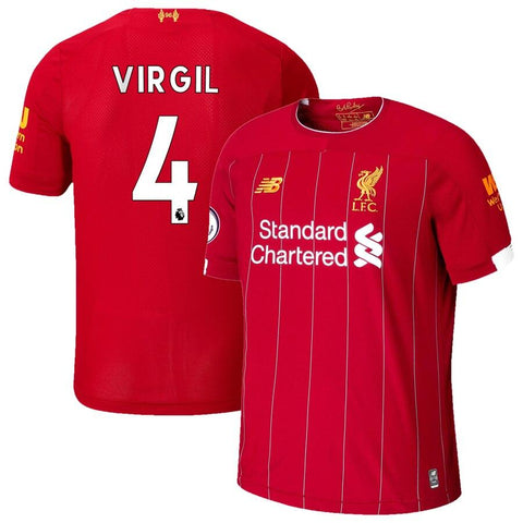 Liverpool  2019/20 Virgil Van Dijk Jersey – Red