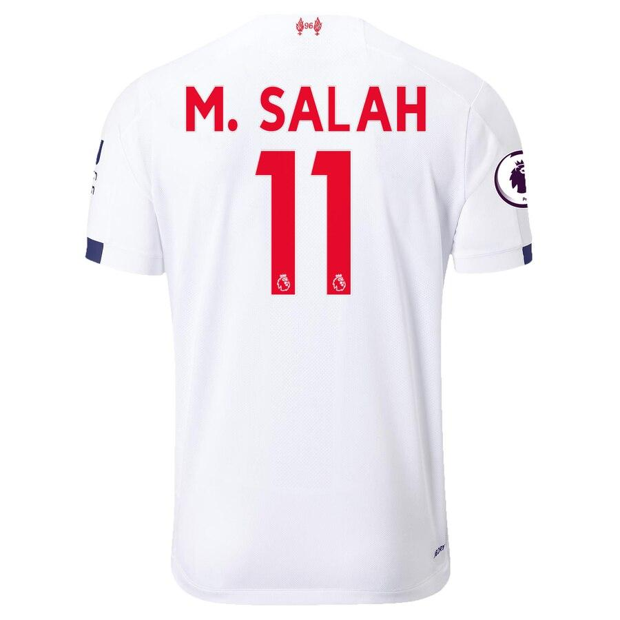 Liverpool New Balance 2019/20 Mohamed Salah Jersey – White