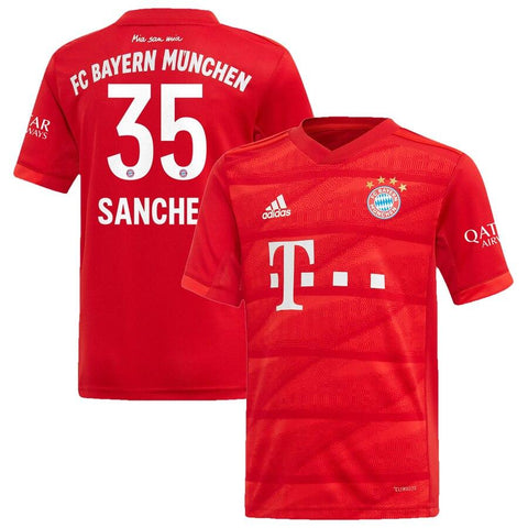 Image of Bayern Munich adidas 2019/20 Renato Sanches Jersey – Red