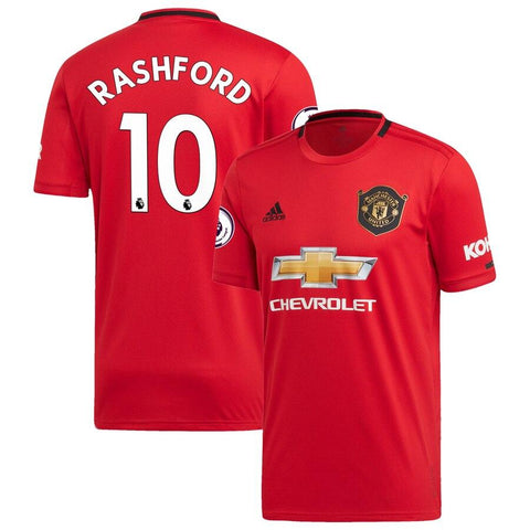 Image of Manchester United adidas 2019/20   Marcus Rashford Jersey - Red