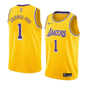 2018-2019 Lakers #1 Kentavious Caldwell-Pope Gold NBA Swingman Icon Edition Jersey
