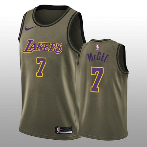 2018-2019 Lakers #7 JaVale McGee Green NBA Swingman Salute to Service Jersey