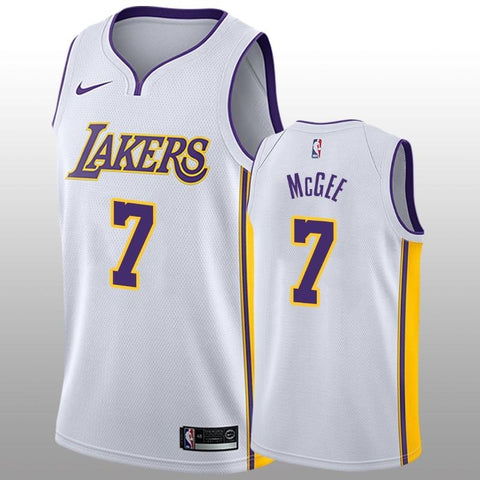 2018-2019 Los Angeles Lakers #7 JaVale McGee Nike Swingman White Men's Jersey - Association Edition