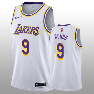 2018-2019 Los Angeles Lakers #9 Rajon Rondo 2018-19 White Men's Jersey - Association Edition