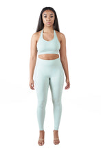 Load image into Gallery viewer, SEAFOAM - Halter Sports Bra