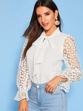 Load image into Gallery viewer, Tie Lace Cuff Blouse! - Fashionsarah
