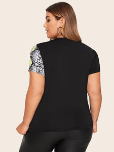 Plus Size Snakeskin Top! - Fashionsarah
