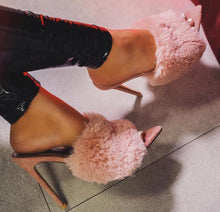 Load image into Gallery viewer, Luxury Rabbit Fur Heels! - Fashionsarah