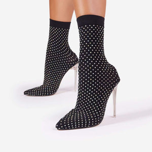 Perspex Ankle Sock Boot