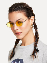 Load image into Gallery viewer, Tinted Oval Sunglasses - Fashionsarah