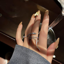 Load image into Gallery viewer, Cool Snake Crystal Ring - Fashionsarah.com
