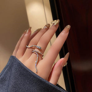 Cool Snake Crystal Ring - Fashionsarah.com