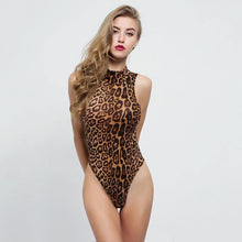 Load image into Gallery viewer, Stand Collar Bodysuit