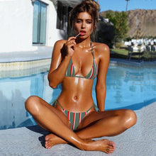 Load image into Gallery viewer, Triangle Striped Bikinis - Fashionsarah