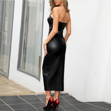 Load image into Gallery viewer, Strapless leather dress! Plus Sizes - Fashionsarah