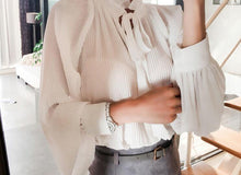 Load image into Gallery viewer, New Arrival, Elegant Stand Collar Blouse! - Fashionsarah