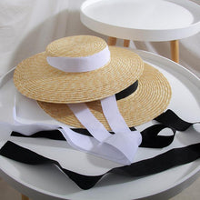 Load image into Gallery viewer, Newest French Style, wide brim straw hat. - Fashionsarah