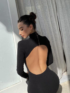 Backless Midi Dress