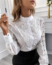 Load image into Gallery viewer, Guipure Lace Blouse - Fashionsarah.com