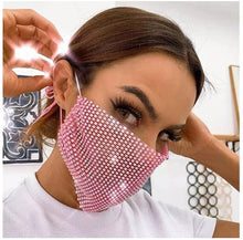 Load image into Gallery viewer, Unisex Rhinestone Facemask
