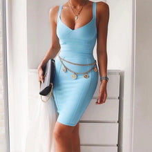 Load image into Gallery viewer, Aqua bodycon Dress!