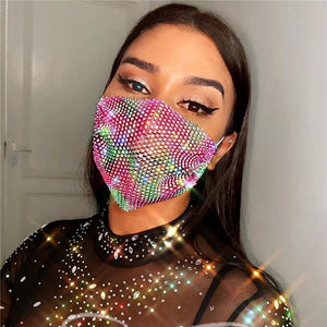 Rhinestone Colorful Facemask