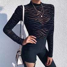 Load image into Gallery viewer, Black Zebra bodysuit!