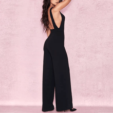 Load image into Gallery viewer, Black Crepe Jumpsuit