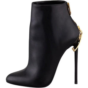 Zipper Ankle Boots