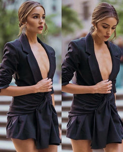 Blazer V Neck Suit - Fashionsarah.com