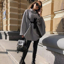 Load image into Gallery viewer, Houndstooth Cape Coat