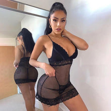 Load image into Gallery viewer, Black See-through Babydoll - Fashionsarah.com