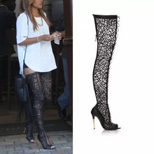 Load image into Gallery viewer, Lace Gladiator Dress Boots - Fashionsarah.com